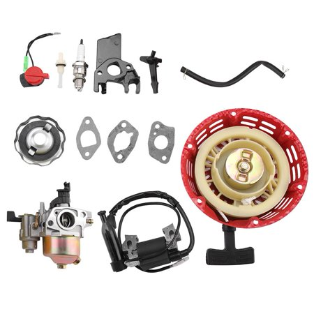 Motorcycle Carburetor,HURRISE Carburetor Recoil Ignition Coil Spark Plug Air Filter Kit for Honda GX160 GX200 - image 2 de 7