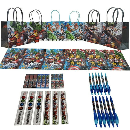 Party Favors Avengers Gift Goody Bag Stationery Party Favor Set 42Pc. (6 - Halloween Goody Bags Ideas For Toddlers
