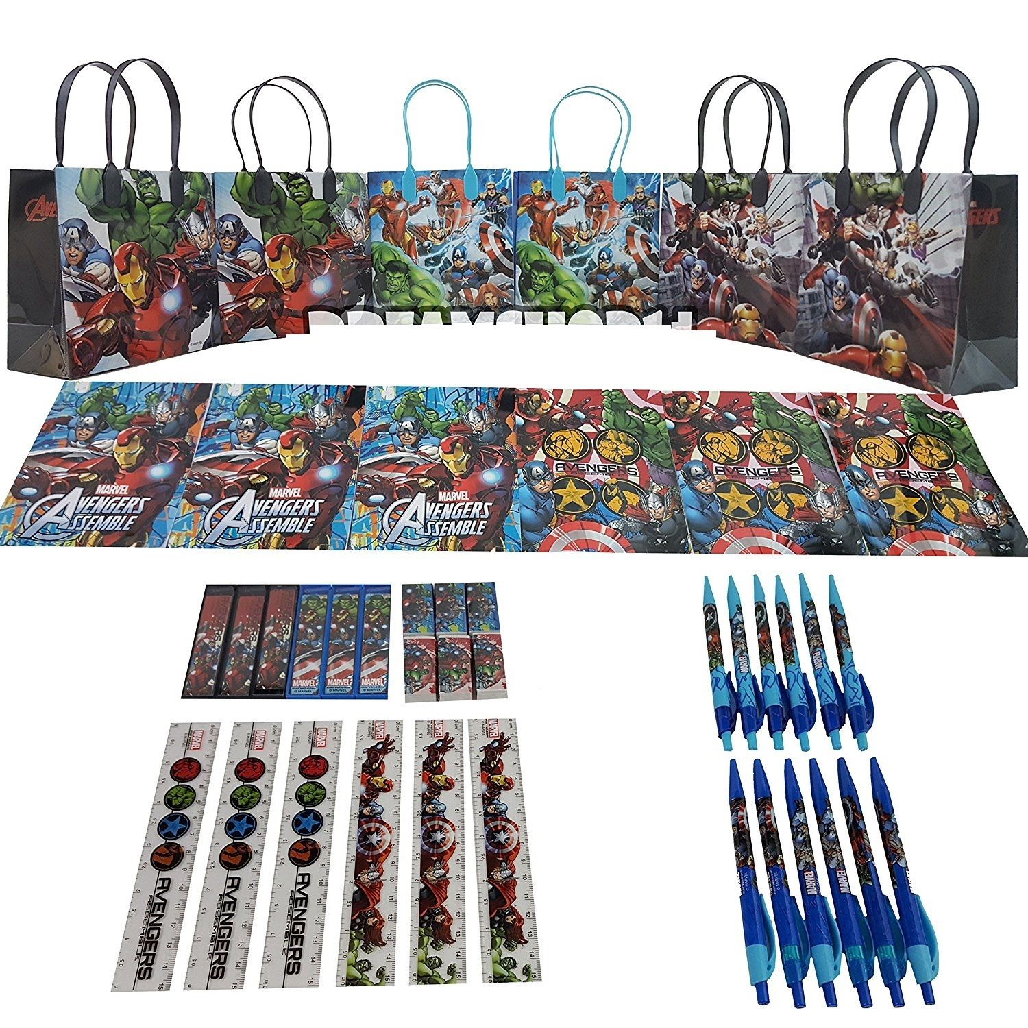 Party Favors Avengers Gift Goody Bag Stationery Party Favor Set 42Pc. (6 Sets)