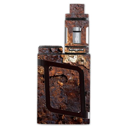 Skin Decal For Smok Al85 Alien Baby Kit Vape Mod / Rusted Away Metal Flakes Of Rust Panel