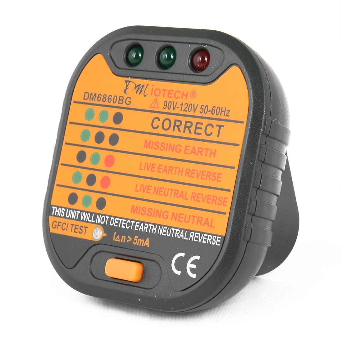 Dm6860bg Power Socket Outlet Tester Polarity Checker Gfci Test Us Ground Fault Circuit Interrupter China Electronic And Digital Plug 110v 120v