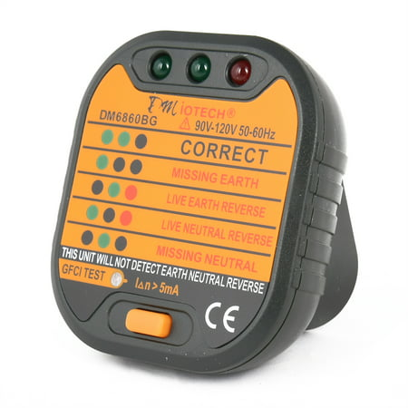 Dm6860bg power socket outlet tester polarity checker gfci test us dm6860bg power socket outlet tester polarity checker gfci test us plug 110v 120v sciox Image collections