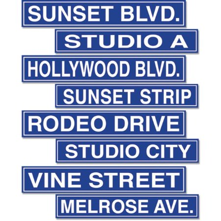 Hollywood Road Sign Cutouts (4 count) (Hollywood Sign For Party)