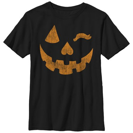 Boys' Halloween Jack-o'-Lantern Wink T-Shirt (Different Types Of Boys On Halloween)