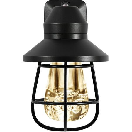 GE Vintage Night Light, LED, Light Sensing, Black Cage, 38628