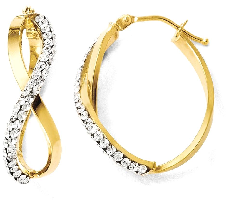 ICE CARATS ICE CARATS 14kt Yellow Gold Crystalfrom Swarovski Hoop Earrings Ear Hoops Set Fine Jewelry Ideal Gifts For... by IceCarats