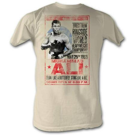 Muhammad Ali Mens  1965 Poster T Shirt White