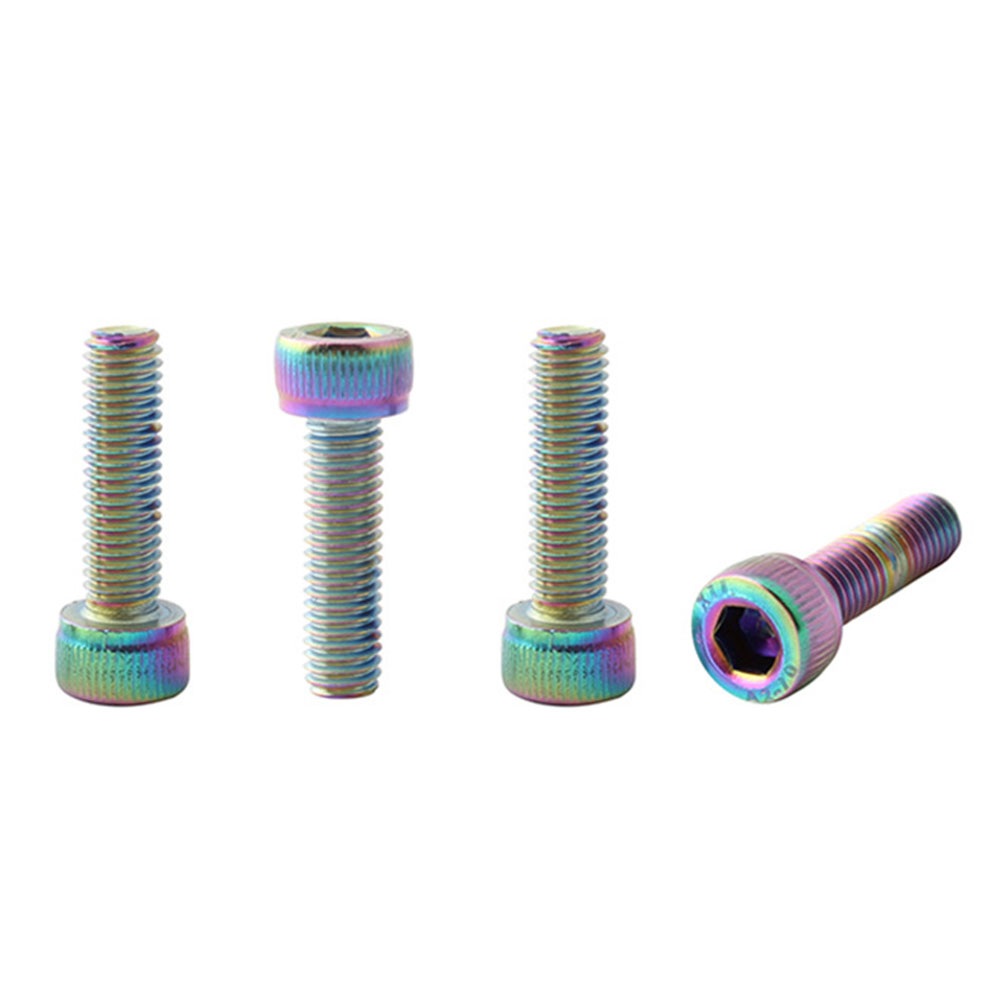 6Pcs Mountain Bike M5x18mm Bolt Bicycle Repair Parts Tool Stainless Steel Screw