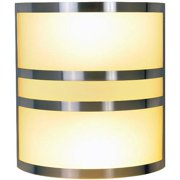 Contemporary Wall Sconce Fixture With Two 13 Watt Gu24 Type Fluorescent Lamps, 10 In., Brushed Nickel With Accents