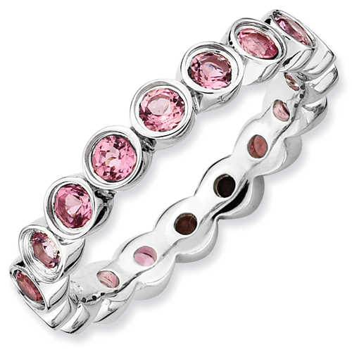 Sterling Silver Stackable Expressions Pink Tourmaline Ring Ring Size: 5 to 10 by Jewelryweb