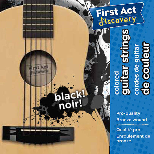 First Act Discovery Guitar Strings - Black