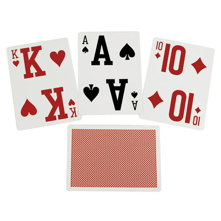 Vision Deck - Elite Low Vision Playing Cards-Red-Single Deck
