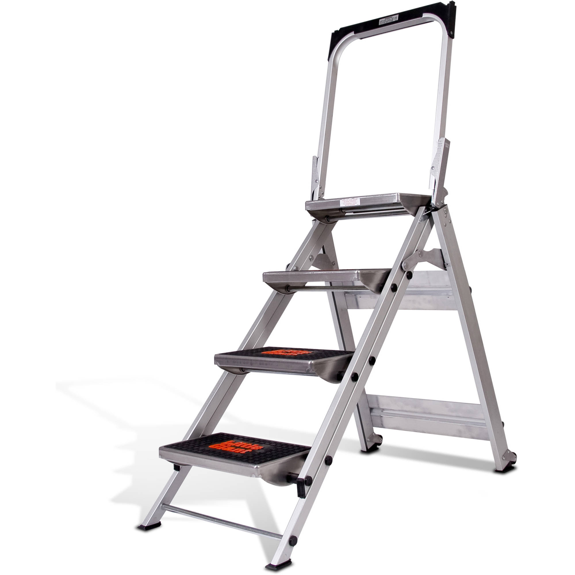 OxGord Heavy Duty Aluminum Folding Scaffold Work Ladder 12.5 Ft Multi Fold  Step Light Weight Multi Purpose Extension   330 LB Capacity   Walmart.com