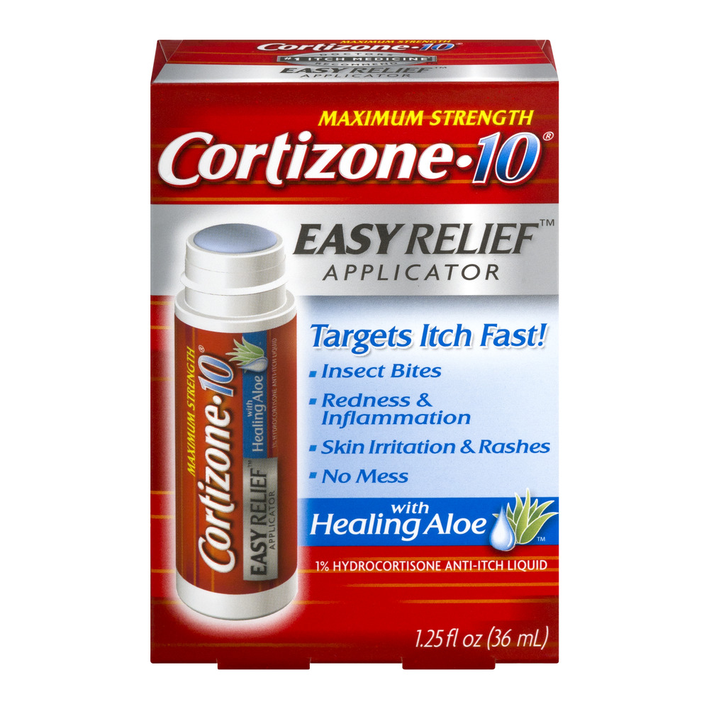 Cortizone 10 Easy Relief Applicator Anti-Itch Liquid 1.25oz