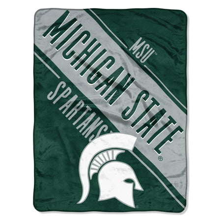 "Michigan State Spartans Gift Box (NCAA Michigan State Spartans ""Section"" Micro Raschel Throw, 46"" X 60"")"