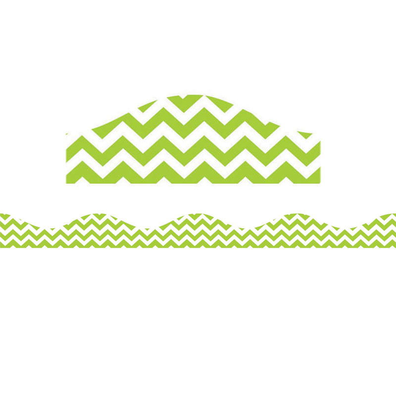 MAGNETIC BORDER LIME GREEN CHEVRON