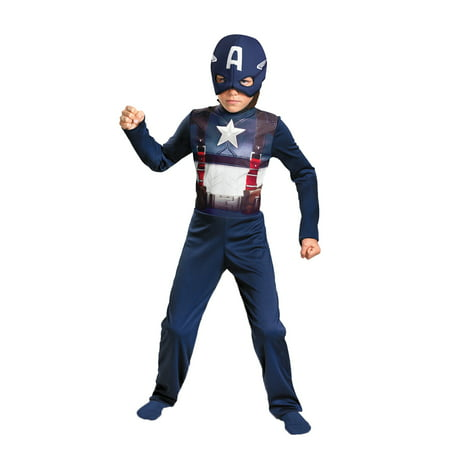 Captain America Costume Girls (Captain America Retro Child Halloween Costume -)