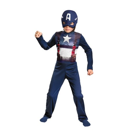 Captain America Retro Child Halloween Costume - Medium - Halloween Costumes America