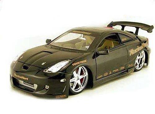 Toyota Celica, Black Jada Toys Import Racer! 63184 1 18 scale Diecast Model Toy Car by Jada