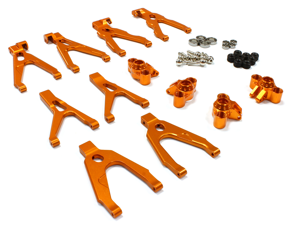 Integy RC Toy Model Hop-ups C25620ORANGE Billet Machined Alloy Conversion Kit for 1 16... by Integy