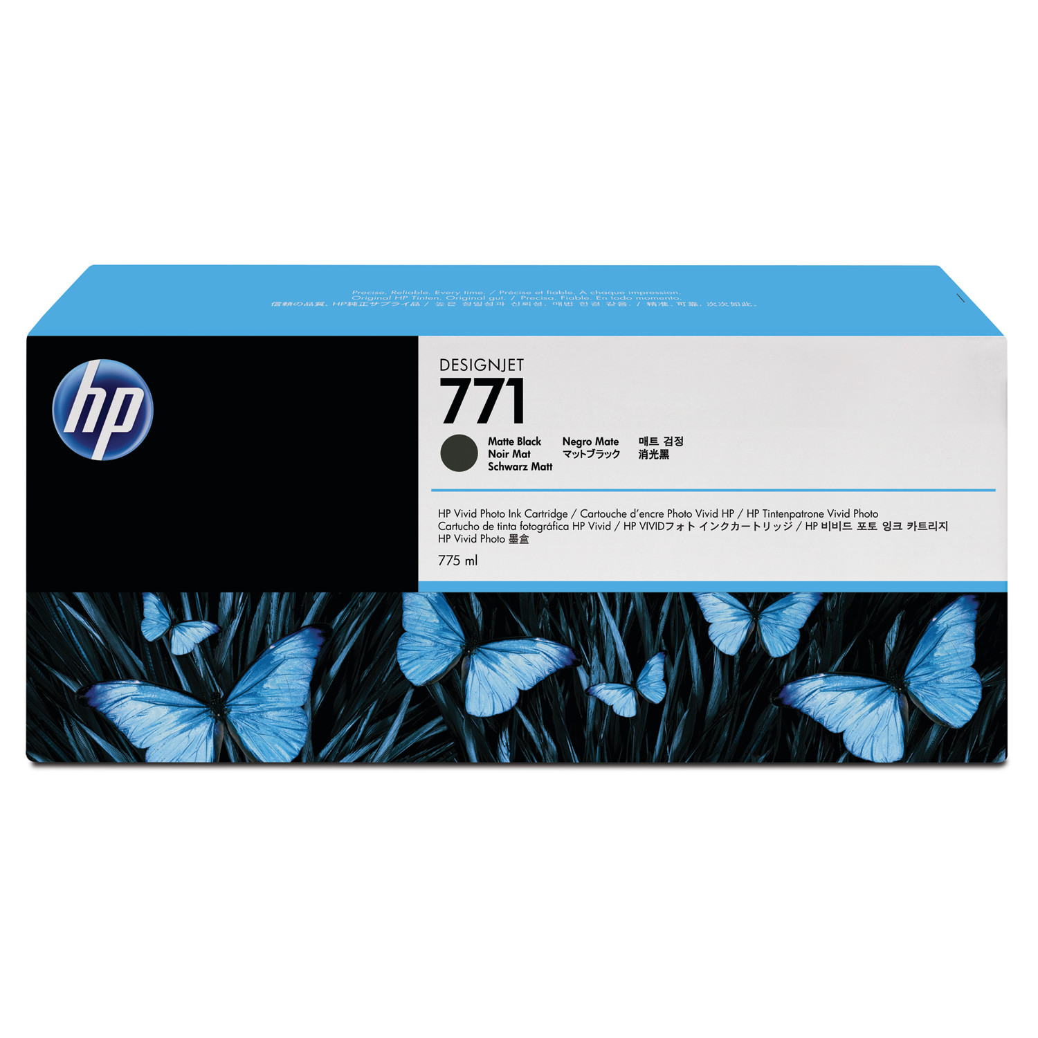 HP HP 771, (CR250A) 3-pack Matte Black Original Ink Cartridges
