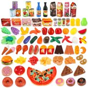 139 Piece Super Market Grocery Play Food Assortment Toy Set for Kids