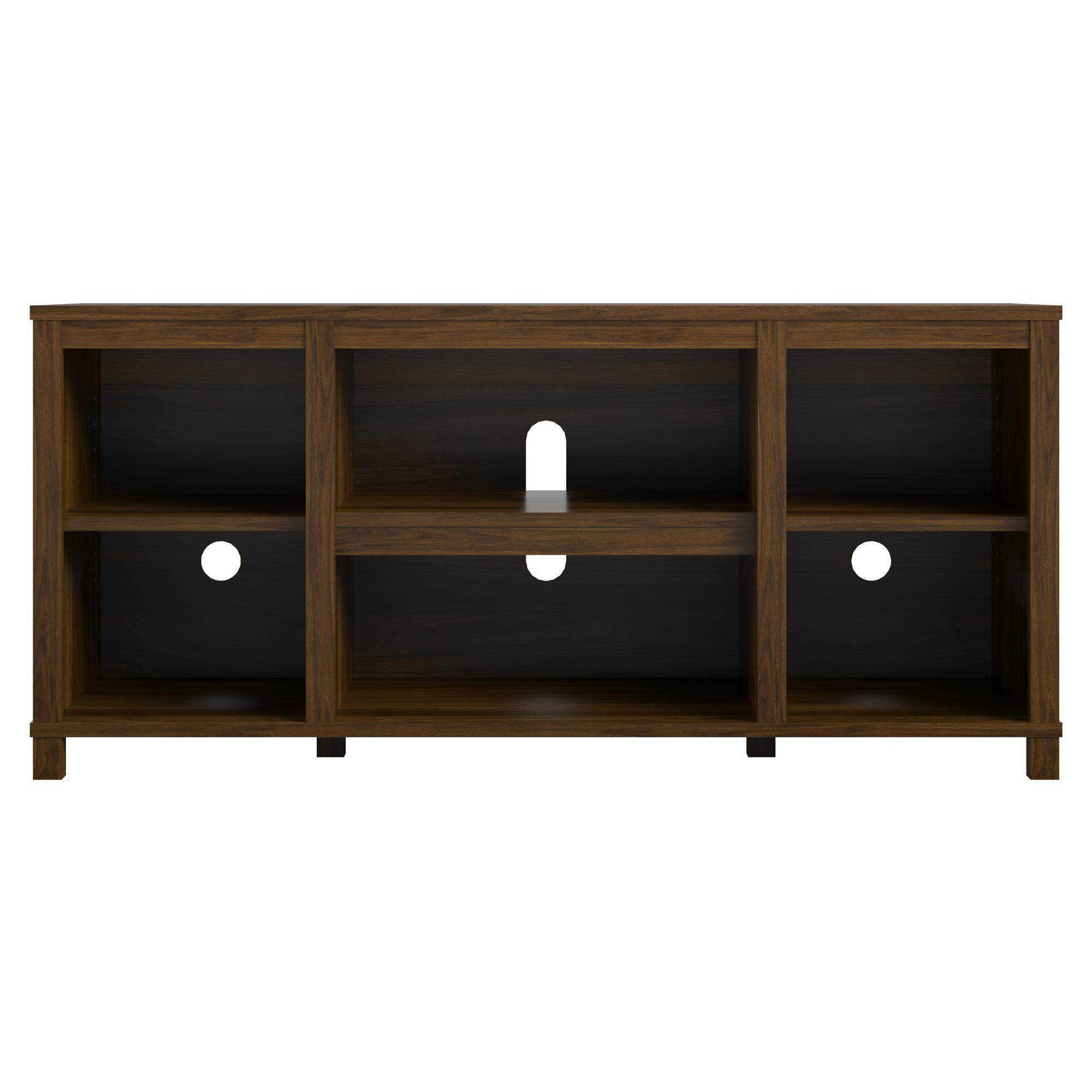 Mainstays Parsons Cubby Tv Stand For Tvs Up To 50 True Black Oak Walmart Com Walmart Com