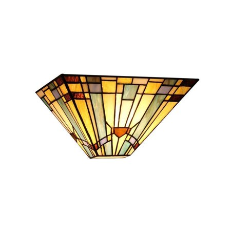 Mission Style Wall - Chloe  Tiffany Style Mission Design 1-light Wall Sconce
