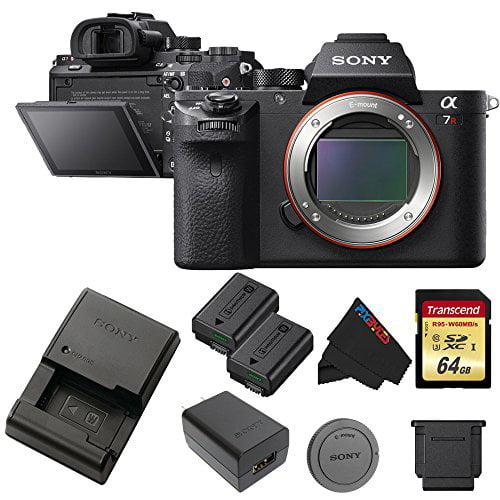 Sony a7R II Full-Frame Mirrorless Interchangeable Lens Camera (Body) + 64GB Pixi-Memory Bundle