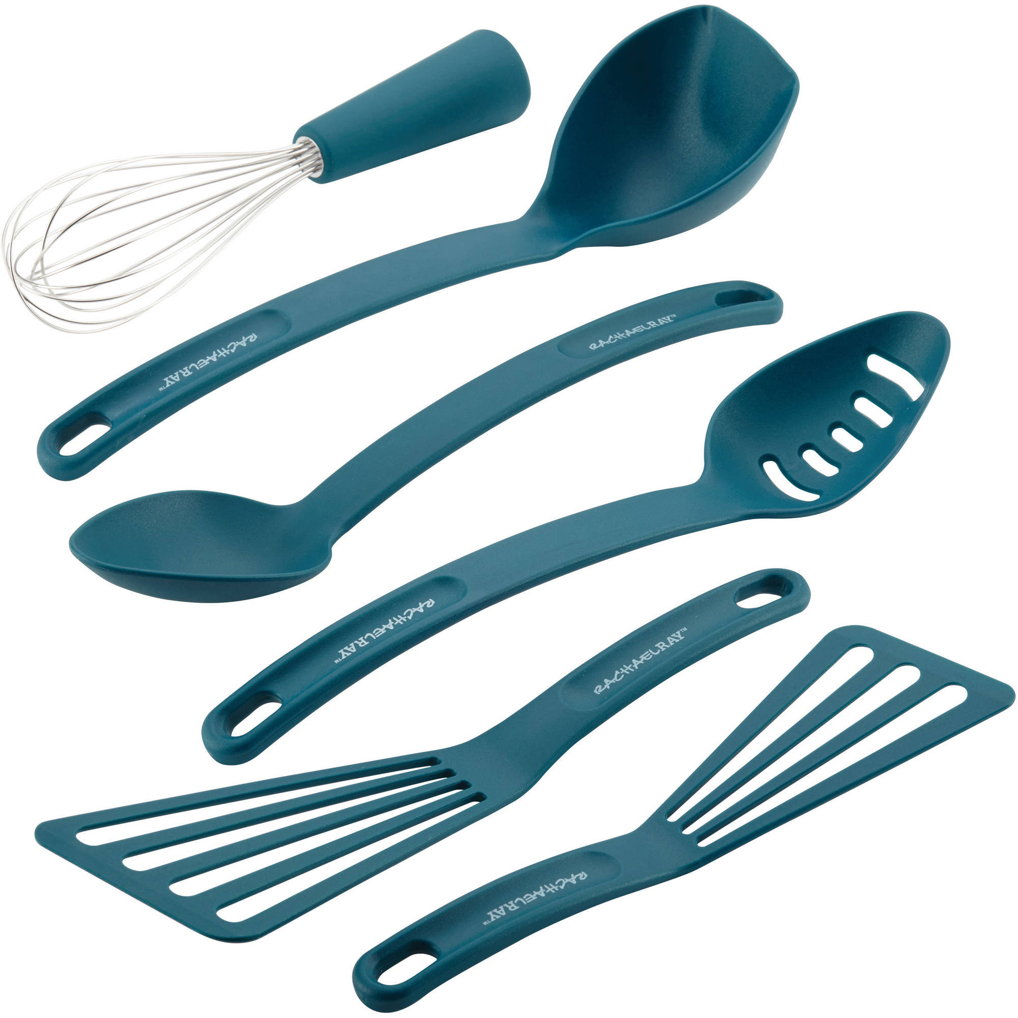 Rachael Ray Tools and Gadgets Nylon Nonstick 6-Piece Tools Set, Marine Blue