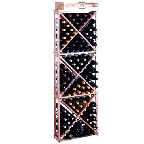 Traditional Series 132-Bottle Open Diamond Cubes Wine Rack