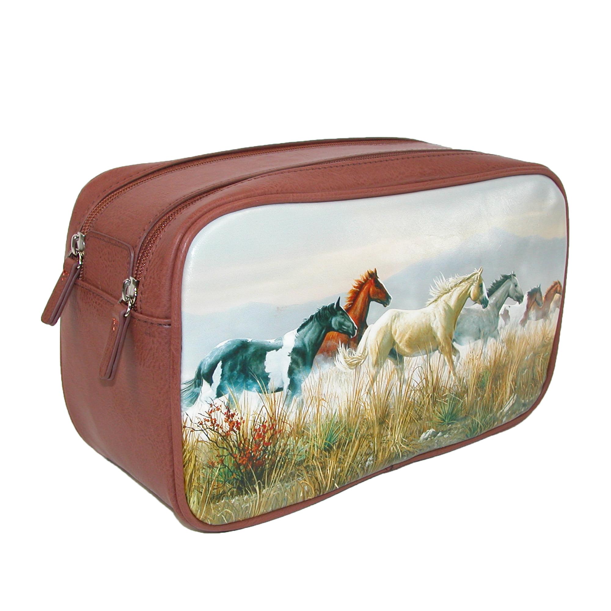 Buxton  Double Zipper Travel Kit with Horses