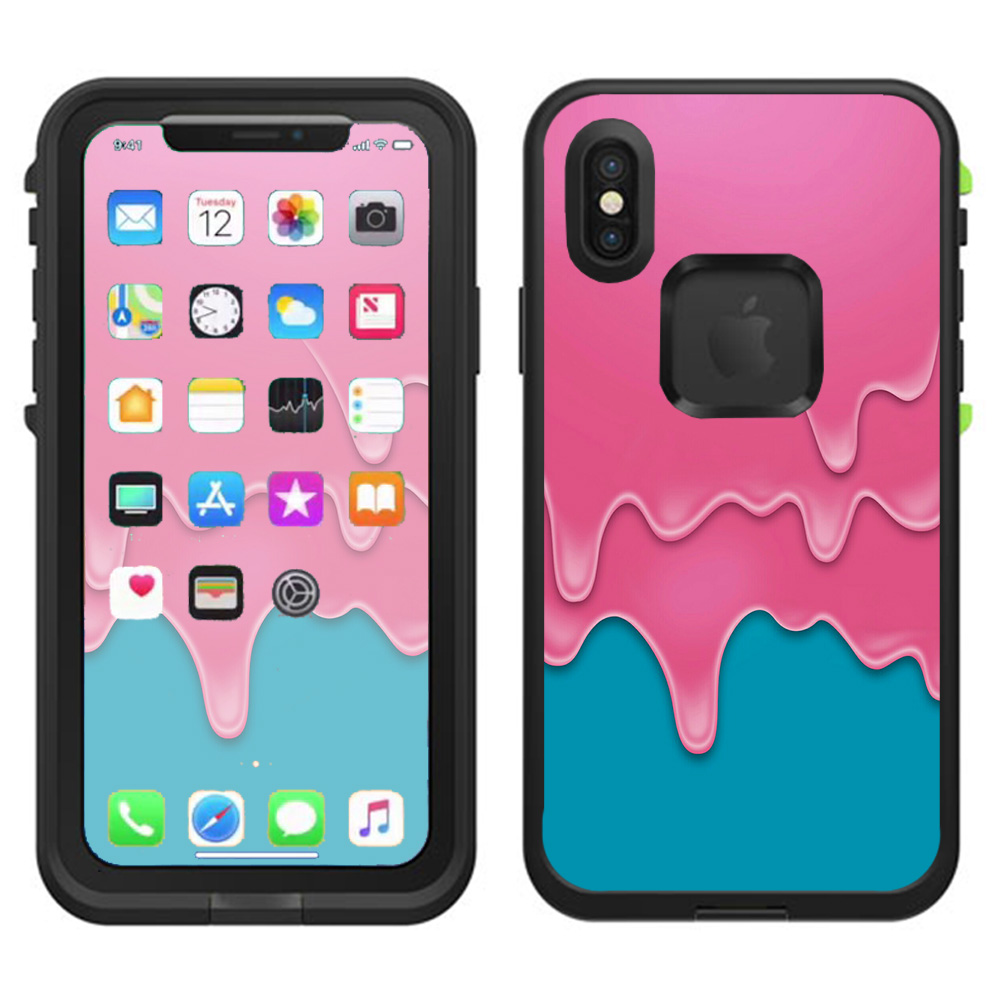 Skins Decals For Lifeproof Fre Iphone X Case  / Dripping Ice Cream Drips