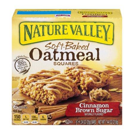Nature Valley Soft Baked Oatmeal Squares Cinnamon Brown Sugar 1 24 Oz Bars 6 Ct Box