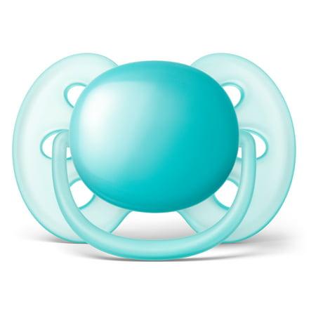 Best Philips Avent Ultra Soft Pacifier, 6-18 months, Blue/Teal, 2 pack, SCF212/22 deal