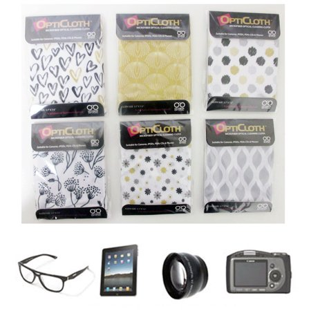 3 OptiCloth Microfiber Optical Cleaning Cloth Glasses Lens Towel Car LCD Camera Lcd Camera Lens