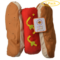 Lookin' Good Hot Dog Dog Costume Medium - (Fits 14-19 Neck to Tail) - Pack of 3