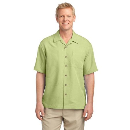 Port Authority® Patterned Easy Care Camp Shirt. S536 Whisper Green Xs - image 1 de 1