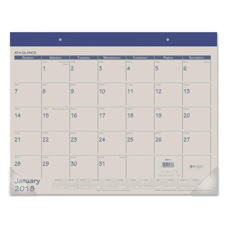 - AT-A-GLANCE Fashion Color Desk Pad, 22 x 17, Blue, 2018
