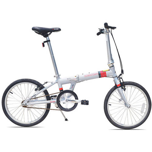 Allen Sports Downtown 1-Speed Folding Bicycle, Cool Grey by Generic