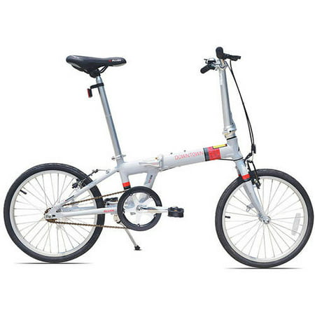 Allen Sports Downtown 1-Speed Folding Bicycle, Cool Grey