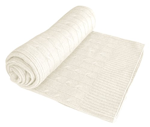 Couture Home Collection Cashmere Wool Classic Cable Knit Warm And Soft Throw Blanket 50 X 60 In Off White Walmart Canada