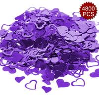 Aspire 4800PCS Heart Table Confetti Party Supply, Glitter Colorful Anniversary Wedding Decoration-Blue