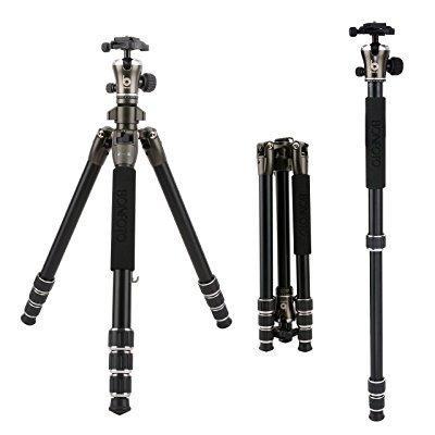 bonfoto 55 inch b671a lightweight aluminum alloy camera
