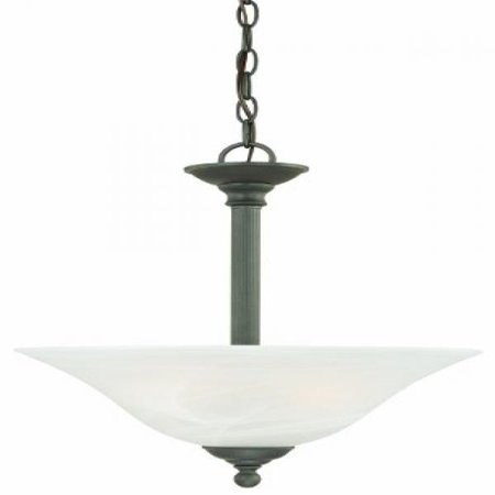 Thomas Lighting SL826663 Riva Collection 3 Light Pendant, Painted Bronze