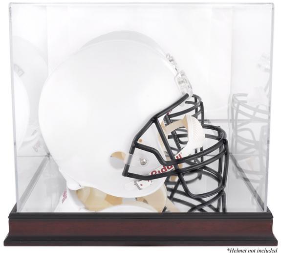 Fanatics Chicago Bears Mahogany Football Logo Display Case with Mirror Back
