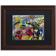 "Trademark Fine Art ""Fearless Heartache"" Canvas Art by Dan Monteavaro Black Matte, Wood Frame"