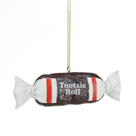 Northlight Seasonal Candy Lane Tootsie Roll Orignal Chewy Chocholate Christmas Ornament - Lilliput Lane Christmas