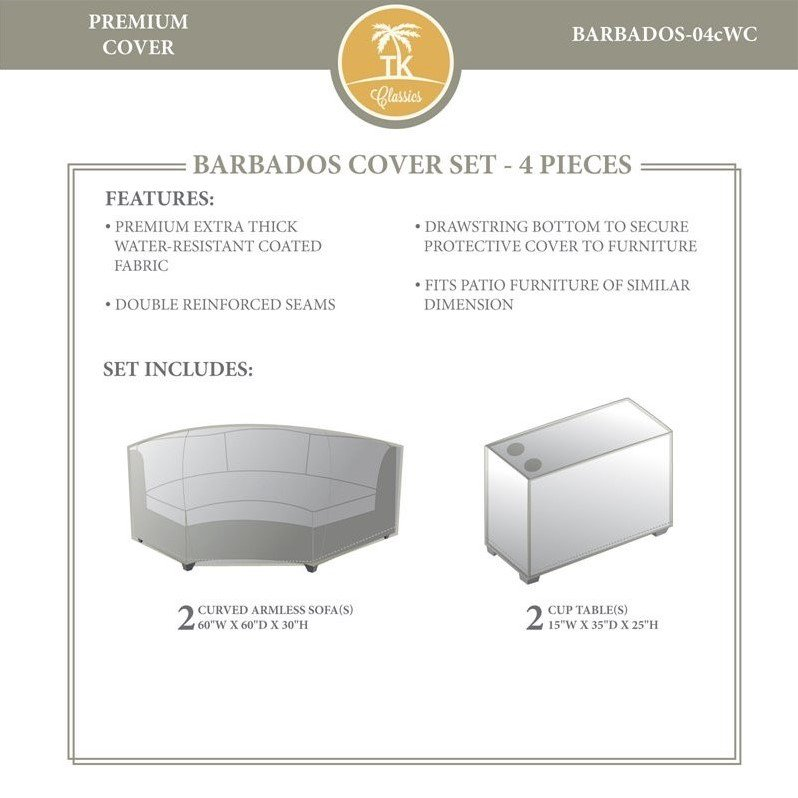 TKC Barbados 4 Piece All Weather Cover Set in Beige - image 2 of 2