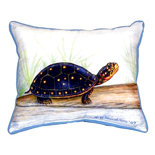 Betsy Drake Interiors Spotted Turtle Indoor/Outdoor Lumbar Pillow
